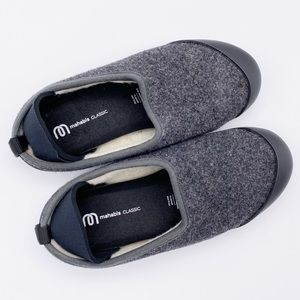 Mahabis Classic Wool Slippers w/ Rubber Sole Gray